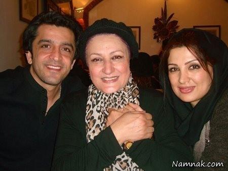 عکس بازیگران در کنار خانواده شان