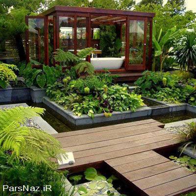 مدل هایی برای طراحی باغچه و حیاط2