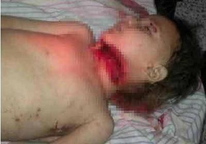 جنجال سر بریدن دختر بچه ای در سوریه|www.rahafun.com|