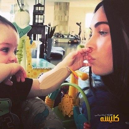 عکس جدید مگان فاکس در کنار فرزندش