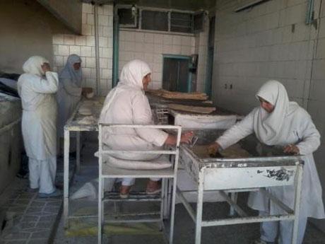 نانوای کاملا زنانه در تهران