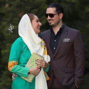 عکس عاشقنه مهناز افشار در کنار همسرش