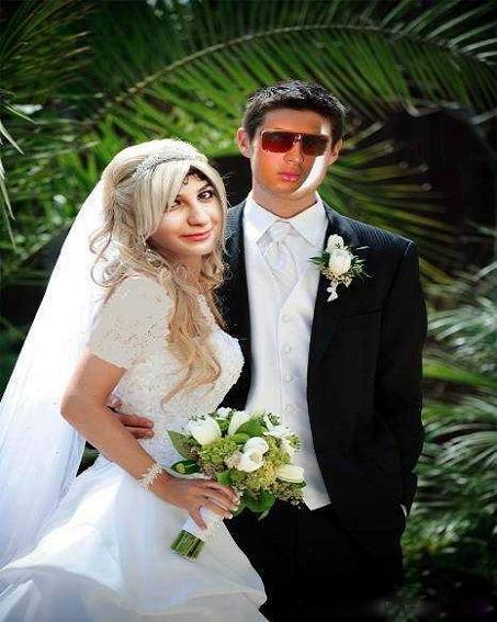عکس عروس و داماد فتوشاپی
