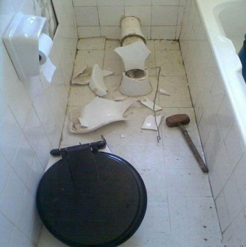 توالت فرنگی طنز