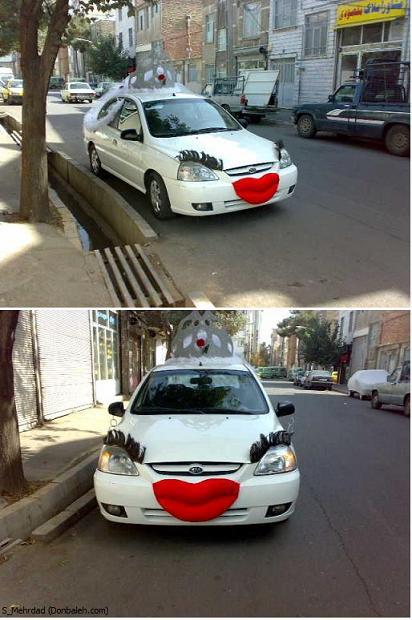 عکس باحال ماشین عروس