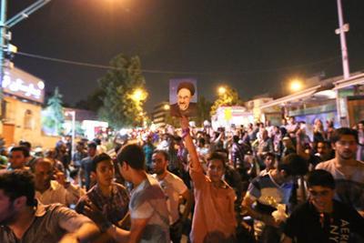 92 03 a881 عکس های شادی طرفداران دکتر روحانی