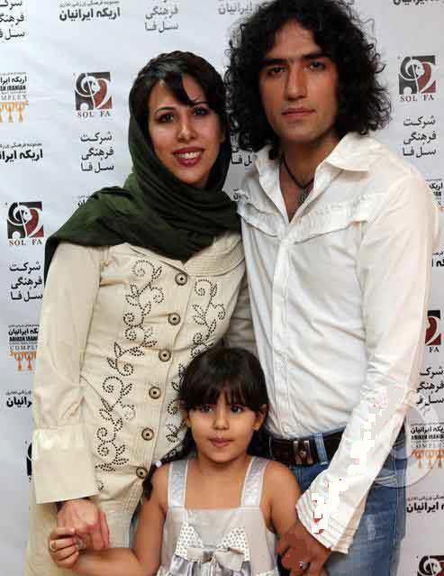 عکس رضا یزدانی با همسر و دخترش