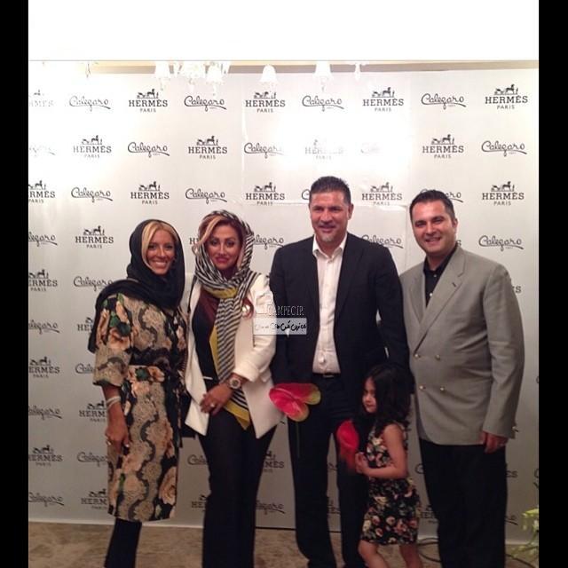 عکس های جدید علی دایی در افتتاح گالری جواهر همسرش