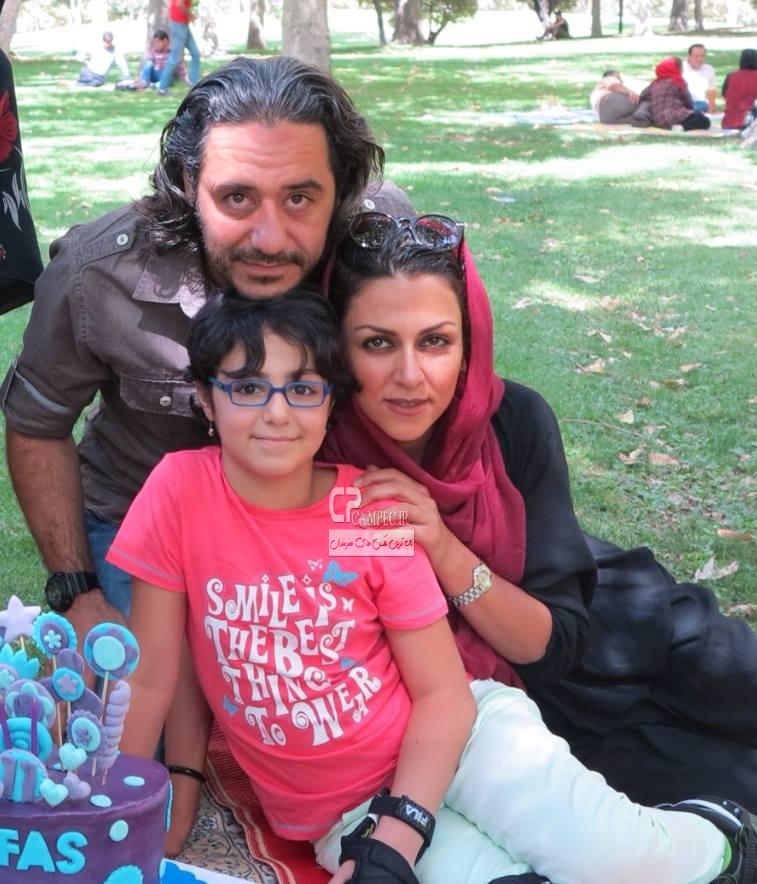 شیوا ابراهیمی و همسر و دخترش
