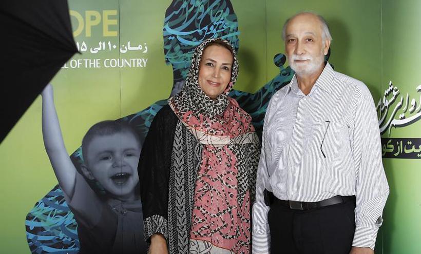 محمود پاک نیت و همسرش مهوش صبر کن