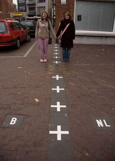 نکته  خیلی جالب مرز بلژیک و هلند