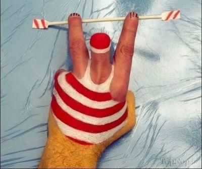 نقاشی های خنده دار روی انگشت