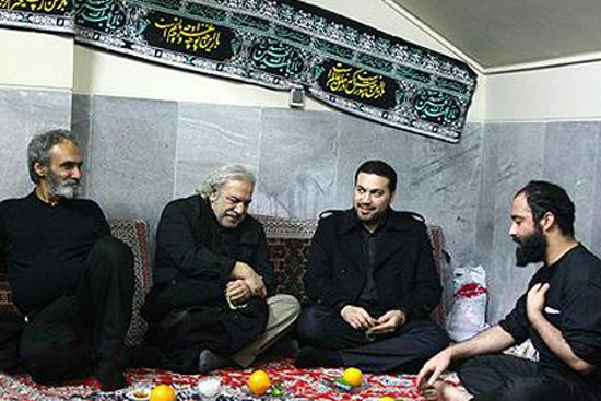 Heyat Bazigaran  4 عکس جدید بازیگران و مجریان ایرانی در هیئت های محرم 93