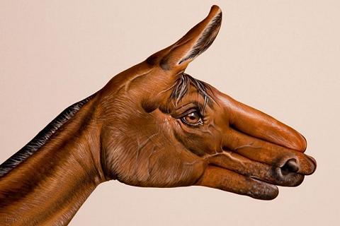 عکس نقاشی های دیدنی روی عکس