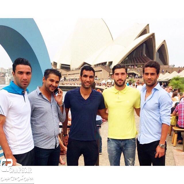 Tim Meli Iran 331 1 عکس های جذاب بازیکنان تیم ملی فوتبال در استرالیا