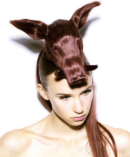 گالری مدل موهای زنانه شبیه حیوانات