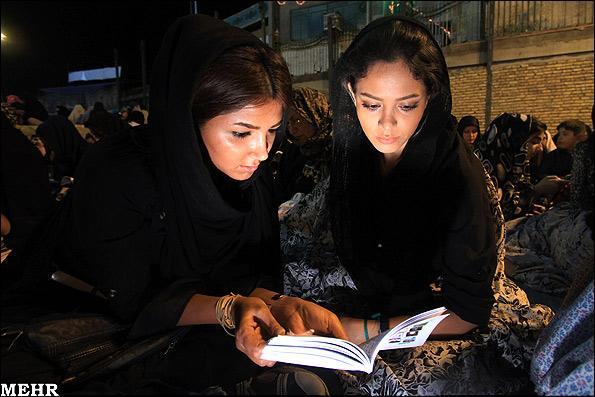 عکس های جالب دختران از مراسم شب قدر