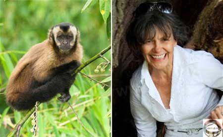 زنی که توسط میمون ها بزرگ شده + عکس