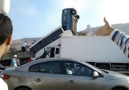 عکس تصادفات باحال-رانندگی خانم ها