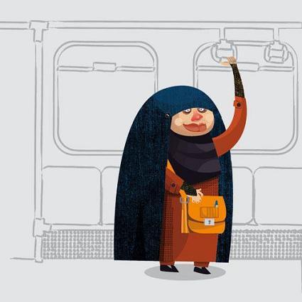 عکس زنان داخل مترو