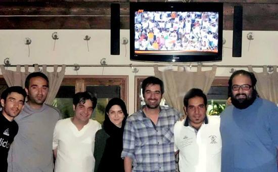 عکس بازیگران در شادی صعود تیم ملی