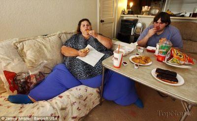 عکس چاق ترین زن جهان