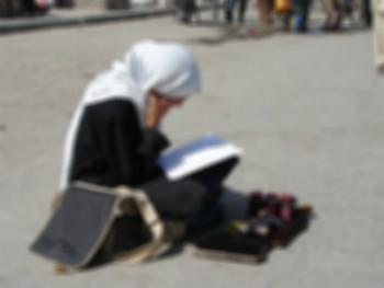 تصویری متأثر کننده از یک دانشجوی دختر ایرانی|www.rahafun.com