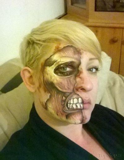نقاشی ترسناک بر روی صورت