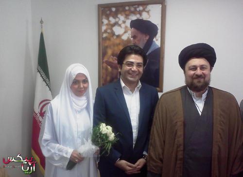 عکس مراسم عقد آزاده نامداری و فرزاد حسنی
