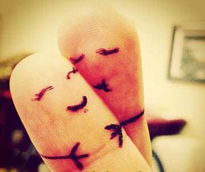 اس ام اس بوسه عاشقانه