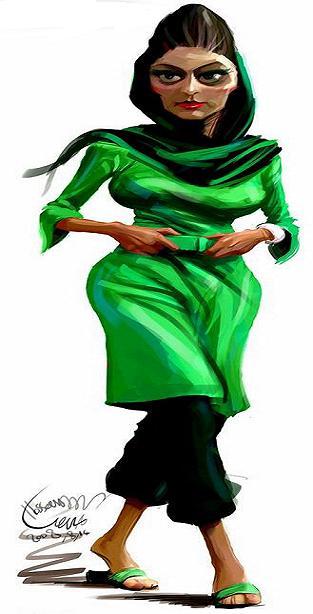 image of girls کاریکاتور دختران امروزی   طنز