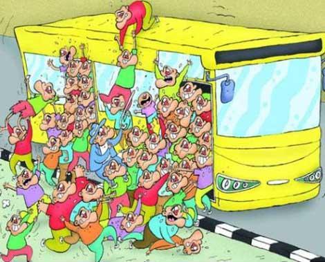 کاریکاتور اتوبوس های BRT