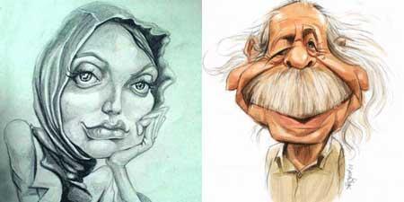 کاریکاتور محمد علی کشاورز-مهناز افشار
