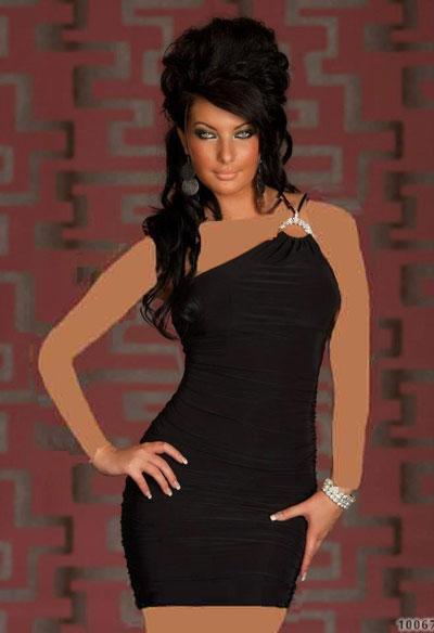 mo7668 لباس کوتاه زنانه مجلسی