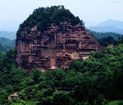 عکس معبد بسیار زیبا در چین