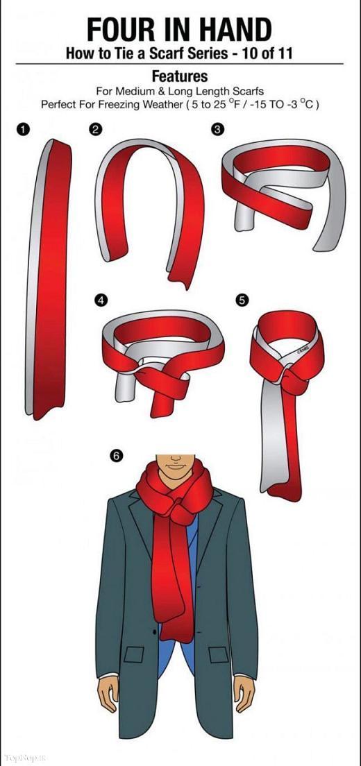 آموزش انواع روش های بستن شال گردن