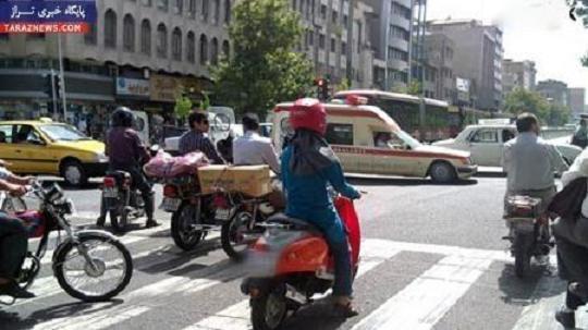 عکس دختر موتور سوار در تهران