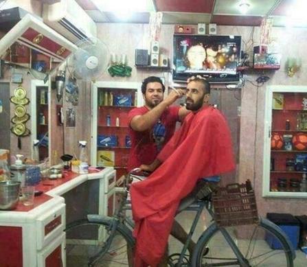 عکس خنده د ار آرایشگاه پیشرفته در تهران
