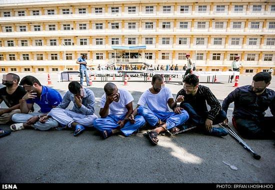 عکس های خفن دستگیری اراذل اوباش