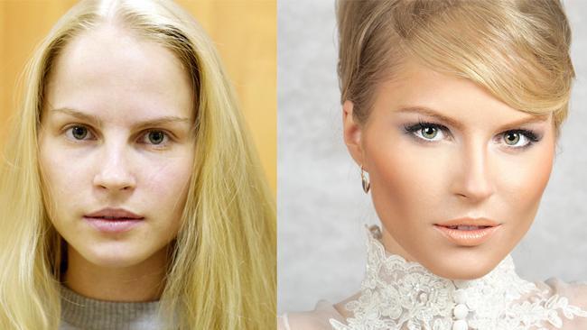 عکس قبل و بعد آرایش زنان و دختران