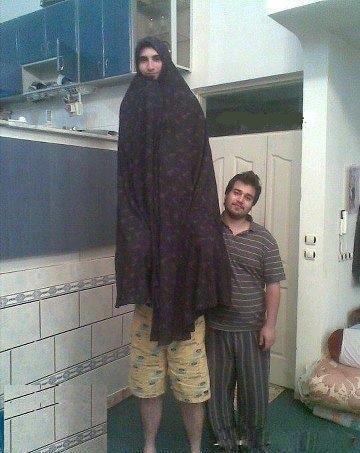 عکس طنز بلندترین دختر ایرانی