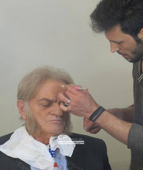 عکس بازیگران ایرانی جدید,عکس بازیگران ایرانی در حال گریم کردن