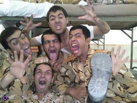 عکس خنده دار آثار سربازی در پسران