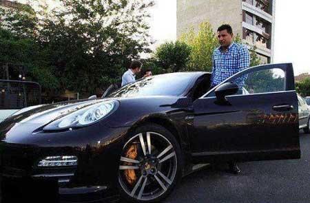 عکس ماشین جدید و خفن علی دایی,ماشین پورشه علی دایی