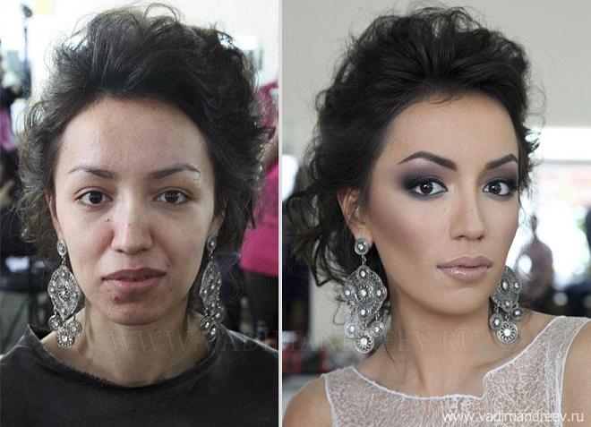 چهره دخترها بعد از میکاپ