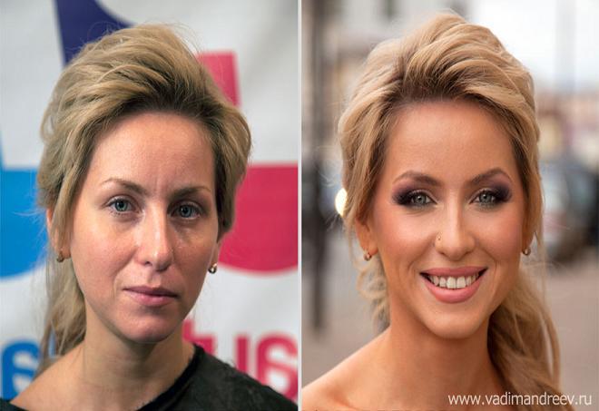 مقایسه چهره دختران قبل و بعد از میکاپ