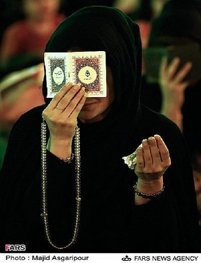 عکس مراسم شب قدر 92,عکس زنان بی حجاب