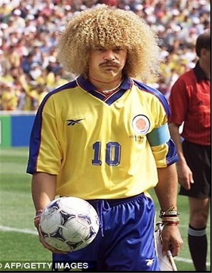 عکس عجیب ترین مدل موهای بازیکنان فوتبال