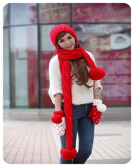 مدل جدید شال و کلاه دخترانه