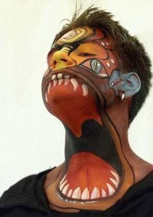 مدل های نقاشی ترسناک روی صورت